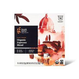 Signature Organic Espresso Blend Dark Roast Coffee - 16ct Single Serve Pods - Good & Gather™   Target