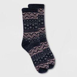 Alaska Knits Women's Wool Blend Striped Stitch Fair Isle Crew Boot Socks 4-10 | Target