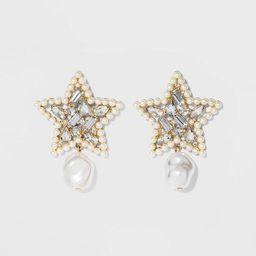 SUGARFIX by BaubleBar Mixed Media Star Earrings - Pearl   Target