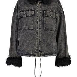 Faux Fur Collar And Cuff Denim Shacket | Boohoo.com (US & CA)