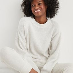Aerie Waffle Oversized Crew Sweater | American Eagle Outfitters (US & CA)