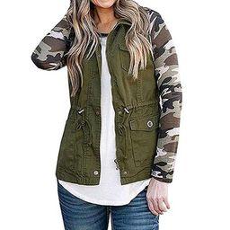 Womens Cargo Utility Safari Vest W/Pockets Drawstring Tops Bomber Jacket Coat   Walmart (US)