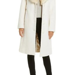 Wool Blend Coat with Removable Faux Fur Collar | Nordstrom