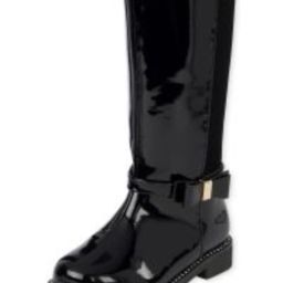 Toddler Girls Bow Faux Patent Leather Tall Boots | The Children's Place