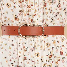 Here To There Cognac Belt | Red Dress