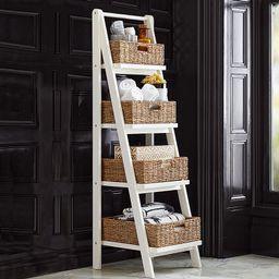 Ainsley Bath Ladder Storage, White | Pottery Barn (US)