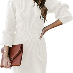 ANRABESS Women Turtleneck Long Sleeve Knit Stretchable Elasticity Slim Sweater Bodycon Mini Sweat...   Amazon (US)