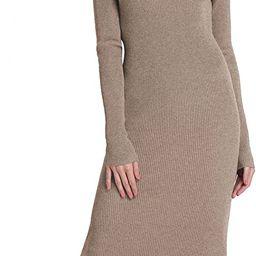 Rocorose Women's Turtleneck Ribbed Long Sleeve Knitted Sweater Dress   Amazon (US)