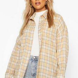 Plus Flannel Oversized Boyfriend Shirt   Boohoo.com (US & CA)