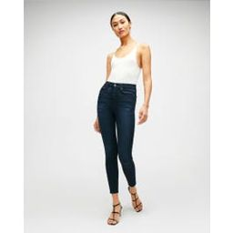 b(air) High Waist Ankle Skinny in Blue Black River Thames   7 For All Mankind