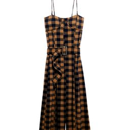 Women's Free People Hold Me Tight Plaid Jumpsuit, Size X-Large - Blue | Nordstrom