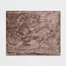 "50""x60"" Faux Rabbit Fur Throw Blanket - Threshold™ | Target"
