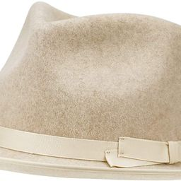 Fedora for Men Women 100% Wool Felt Outback Panama Hat Classic Band Wide Brim Adjustable | Amazon (US)