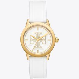 Gigi Watch, White Silicone/Gold-Tone, 36 X 42 mm   Tory Burch (US)