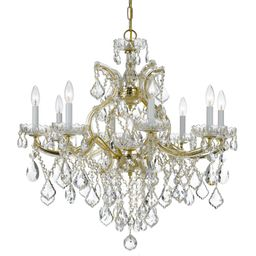 New   Maria Theresa 28 Inch 9 Light Chandelier by Crystorama  Capitol ID: 1127301 MFR SKU: 4409-G... | Capitol Lighting 1800lighting.com