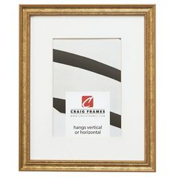 Craig Frames 314GD 8 x 12 Inch Ornate Gold Picture Frame Matted to Display a 5 x 7 Inch Photo | Walmart (US)