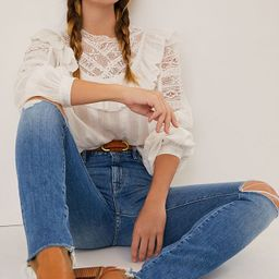 MOTHER The Looker High-Rise Frayed Skinny Jeans | Anthropologie (US)