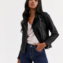 Vero Moda faux leather biker jacket | ASOS (Global)