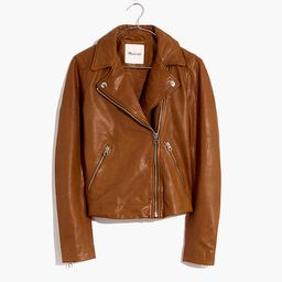 Washed Leather Motorcycle Jacket | Madewell