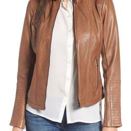 Bernardo | Zip Front Leather Biker Jacket (Regular & Petite) | Nordstrom Rack | Nordstrom Rack