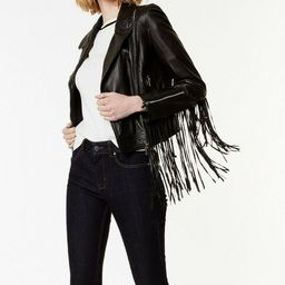 100% Real NEW Womens  Soft Leather Style Fringe Biker   Etsy   Etsy (US)