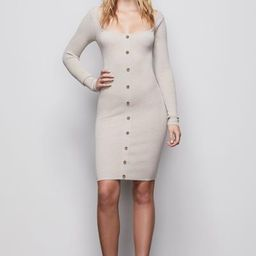 THE BUTTON UP SWEATER DRESS | OATMEAL002 | Good American