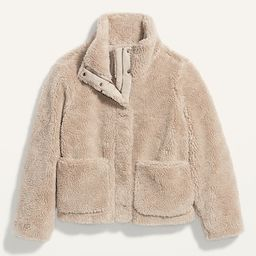Relaxed Cozy Sherpa Faux-Fur Jacket for Women | Old Navy (US)