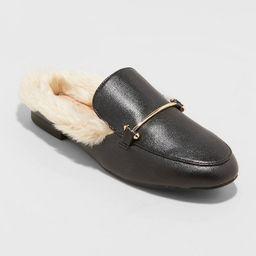 Women's Rebe Faux Fur Mules - A New Day™ | Target