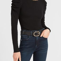 Ruched Sleeve Crew Neck Sweater | Express