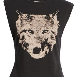 Wolf Muscle Graphic Tee with Shoulder Pads   Nordstrom
