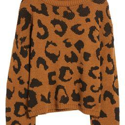 Leopard Pattern Turtleneck Sweater   Nordstrom