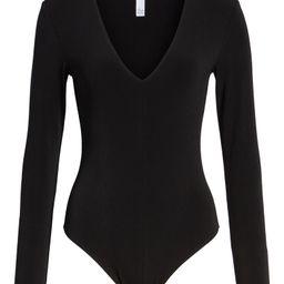 Deep V-Neck Long Sleeve Bodysuit | Nordstrom