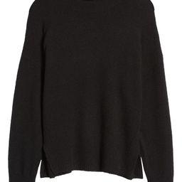 Mock Neck Side Slit Sweater | Nordstrom