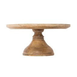 Crafted Wood Cake Stand   McGee & Co.