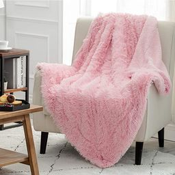 Bedsure Soft Faux Fur Girls Throw Blanket - Cute,Pink Room Decor - for Sofa, Couch and Bed- Fuzzy... | Amazon (US)