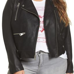 Lamb Touch Faux Leather Moto Jacket   Nordstrom