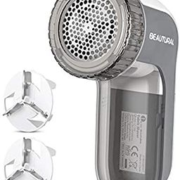 BEAUTURAL Fabric Shaver and Lint Remover, Sweater Defuzzer with 2-Speeds, 2 Replaceable Stainless... | Amazon (US)