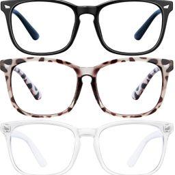 Blue Light Blocking Glasses - 3Pack Computer Game Glasses Square Eyeglasses Frame, Blue Light Blo...   Amazon (US)