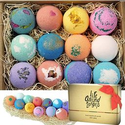 LifeAround2Angels Bath Bombs Gift Set 12 USA made Fizzies, Shea & Coco Butter Dry Skin Moisturize...   Amazon (US)