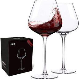 Hand Blown Italian Style Crystal Burgundy Wine Glasses - Lead-Free Premium Crystal Clear Glass - ...   Amazon (US)