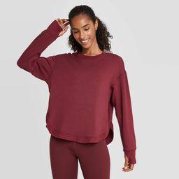 Women's Cozy Curved Hem Sweatshirt - JoyLab Tawny Port L | Target