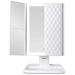 AirExpect Makeup Mirror Vanity Mirror with Lights - 3 Color Lighting Modes 72 LED Trifold Mirror,... | Amazon (US)