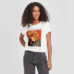 Women's Janet Jackson Short Sleeve Graphic T-Shirt - White | Target