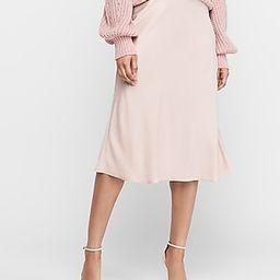 High Waisted Satin Midi Skirt Pink Women's XXS   Express