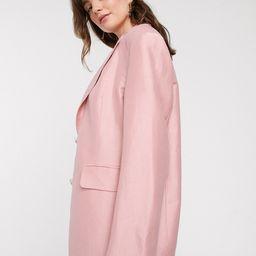 & Other Stories linen oversized blazer in light pink | ASOS (Global)