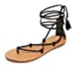 Soludos Women's Gladiator Lace Up Sandals, Black, 7 B(M) US | Amazon (US)