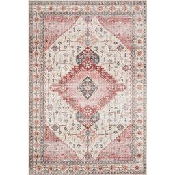 Loloi Ll Skye Ivory And Berry Rectangular: 7 Ft. 6 In. X 9 Ft. 6 In. Rug Skyesky 02ivby7696   Bel...   Bellacor