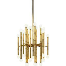 Robert Abbey Jonathan Adler Meurice Antique Brass 30 Light Chandelier 654   Bellacor   Bellacor