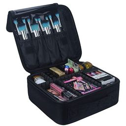 Relavel Travel Makeup Train Case Makeup Cosmetic Case Organizer Portable Artist Storage Bag with ... | Amazon (US)