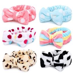 Spa Headband – 6 Pack Bow Hair Band Women Facial Makeup Head Band Soft Coral Fleece Head Wraps ... | Amazon (US)